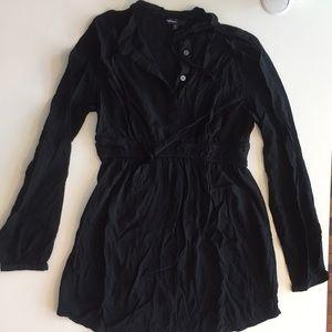 Gap black long sleeve dress shirt